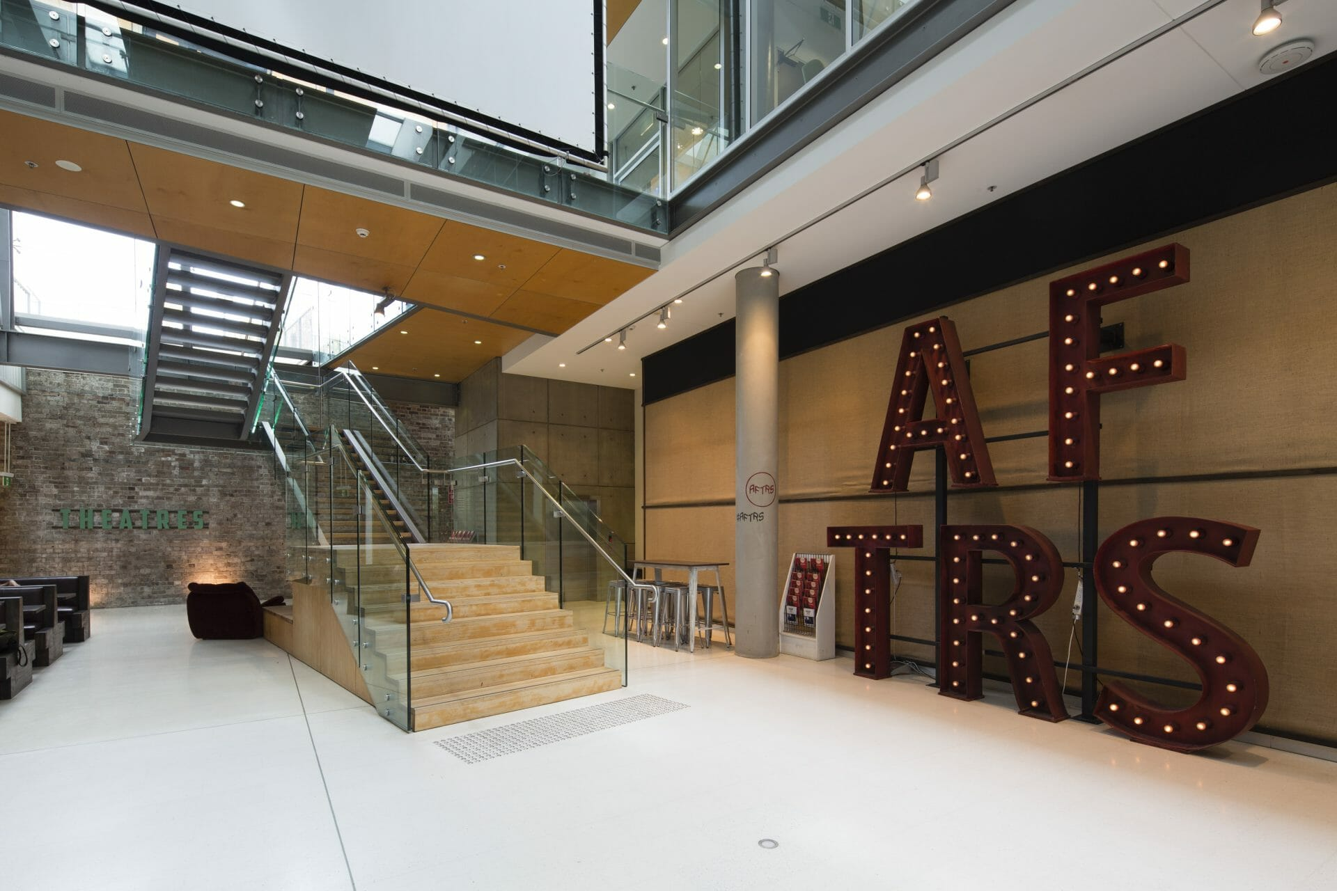 a school fitout construction project for Australian Film Television Radio School