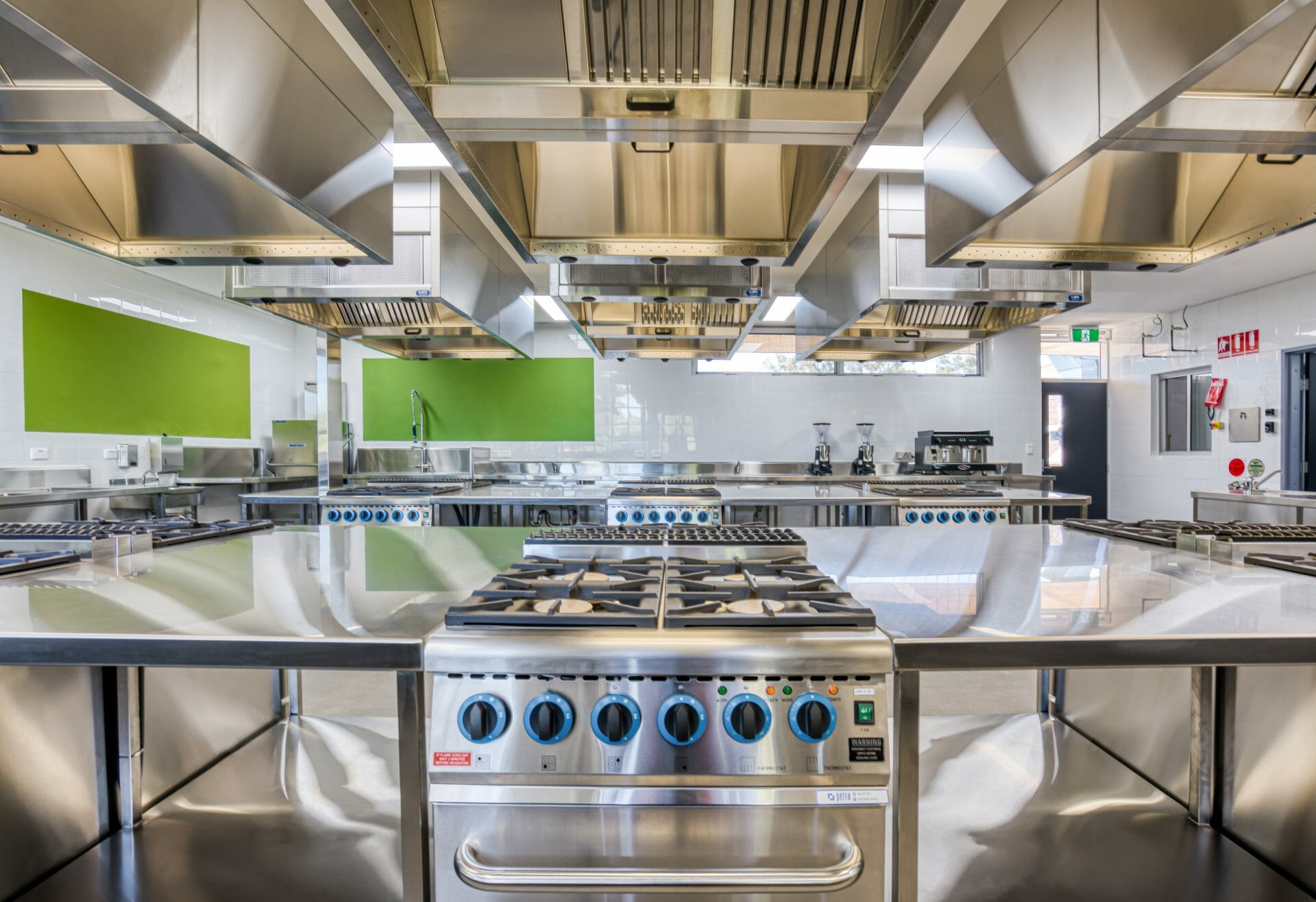 an industrial fitout construction project for Western Sydney Food Technology Classroom